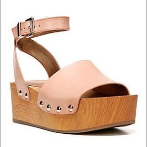 Sam Edelman Brynn Wood Platform Sandal Nude